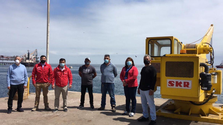 MOP entregó remozado muelle a pescadores de Tocopilla.