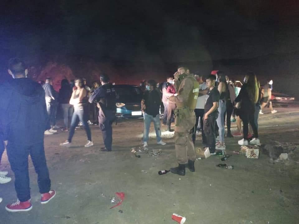 Antofagasta: 41 detenidos en carrete playero.